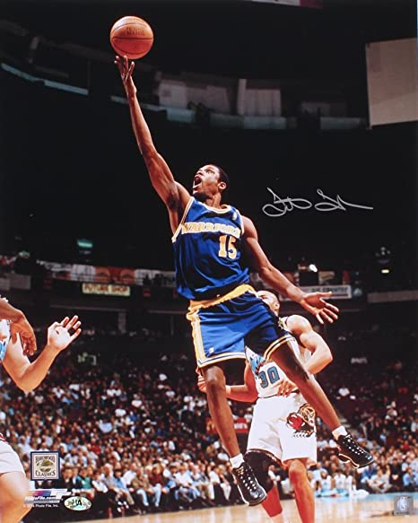save off cf014 deba6 LATRELL SPREWELL SIGNED 16x20 PHOTO NY KNICKS GOLDEN STATE ...