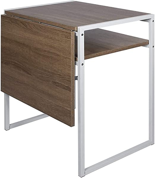 Amazon Com Folding Dining Table Compact Drop Leaf Table For Small Spaces Multifunction Expandable Table Corner Laptop Desk Workstation Light Brown Tables,Floor Plan 2 Bedroom Apartment