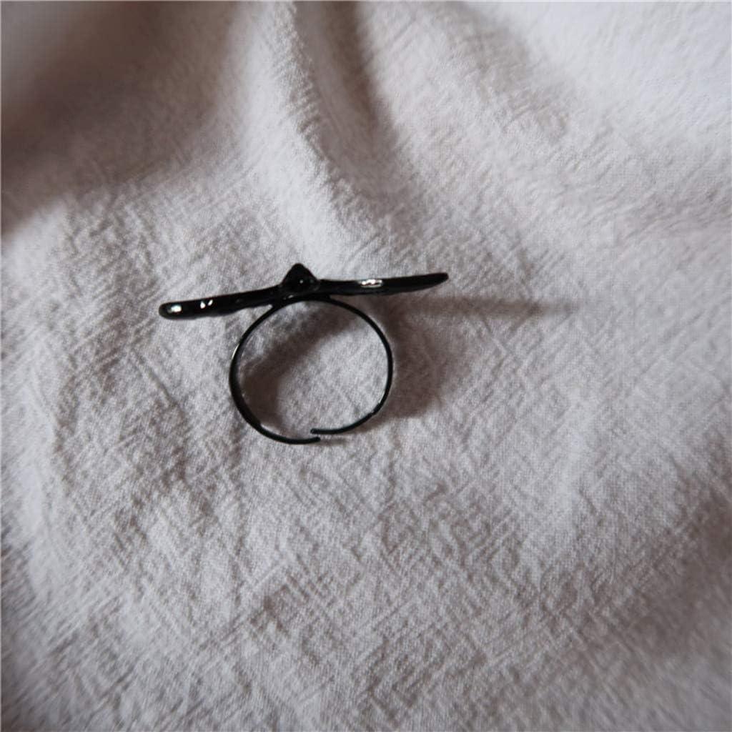 Amosfun 2pcs Bague de Chauve-Souris Halloween Bague r/églable Bijoux Parti favorise Jouets Accessoires