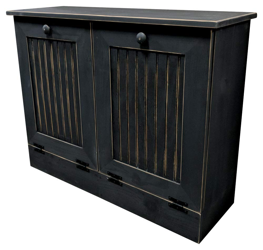Pleasant Sawdust City Double Tilt Out Trash Cabinet Old Black Download Free Architecture Designs Sospemadebymaigaardcom
