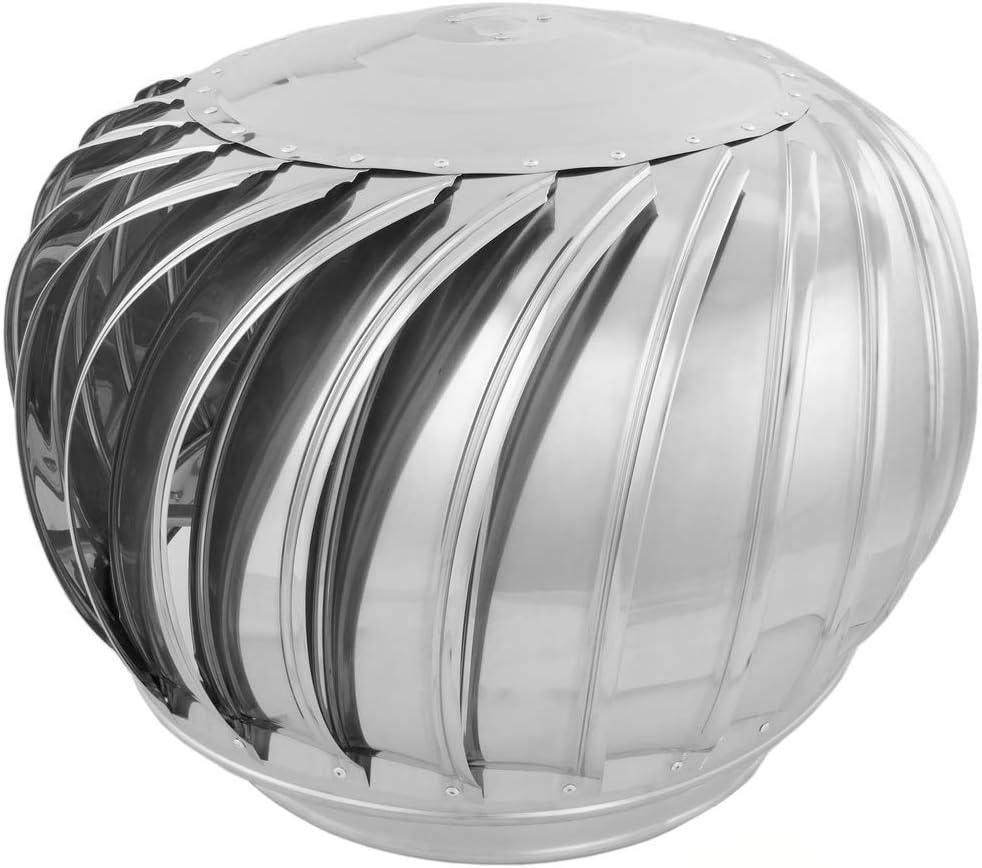 PrimeMatik - Sombrero Extractor de Humos galvanizado Giratorio para Tubo de 360 mm de diámetro