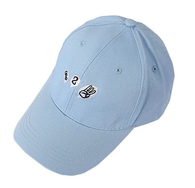 26d26c31209 PANDA SUPERSTORE One Two Three Sports Caps Fashion Caps Ladies Baseball  Caps Blue  Amazon.co.uk  Sports   Outdoors