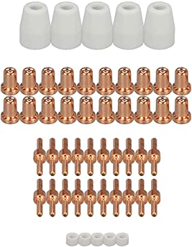 40A Plasma Cutter Cutting PT-31 Ceramic Shield Cup Nozzles Fit CUT40 CT312 20pcs