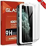 SHINEZONE iPhone 11 pro ガラスフイルム【ガイド枠付き 2019年9月最新版】アイフォン11pro ガラスフィルム 5.8インチ用 日本旭硝子製 防指紋 透過率99.9% iPhone11Pro フィルム (2枚セット)