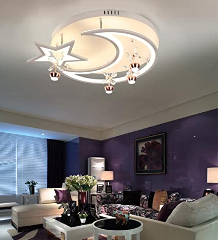 Plafón Caricatura Luna LED Ojos Proteger lámpara de techo ...