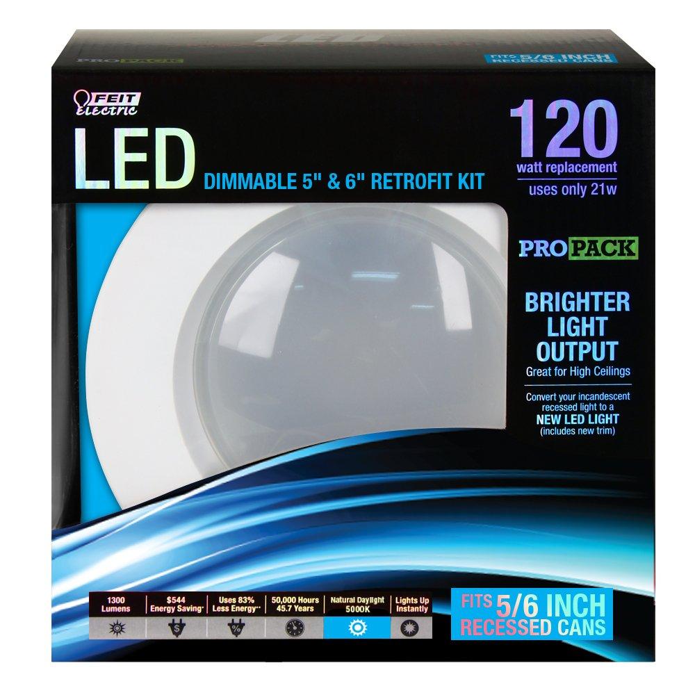 Feit ledr56ho850 120w equivalent 5 6 inch daylight retrofit kit feit ledr56ho850 120w equivalent 5 6 inch daylight retrofit kit amazon aloadofball Choice Image