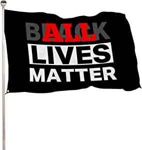 HOOSUNFlagrbfa All and Black Lives Matter Flag Outdoor Banner Justice for Flag Outside Porch Flag Garden House Home Decor 35.4 x 59 inch (3x5 FT)