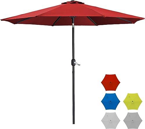 SUNVIVI OUTDOOR 9 Ft Patio Umbrella Market Table Outdoor Umbrella