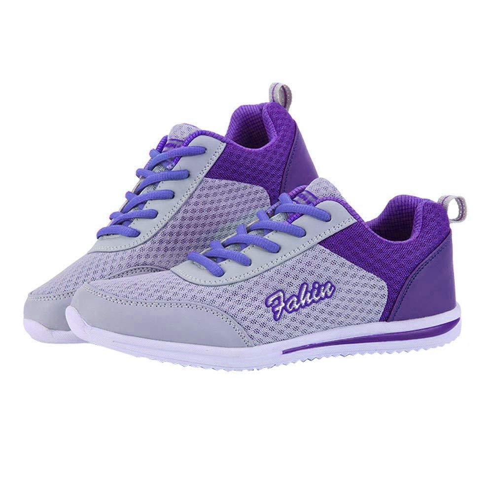 Chaussures de de Sport, Plein Yesmile Mode air Femmes Chaussures Chaussures décontractées Chaussures de Marche en Plein air Appartements Chaussures Violet 7e5f07f - tbfe.space