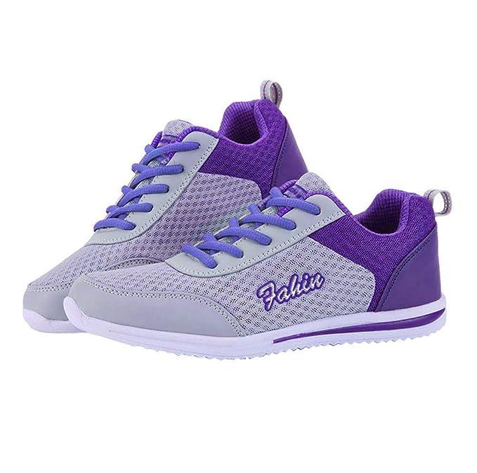 Memefood Zapatillas Deportivas Mujer, Calzado De Cordones Plano Zapato Deporte De Malla Transpirable Ligero En Suelas Cómodo De Moda Sneaker De Exterior ...