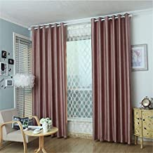 """meilianjia 3D Embossing Pearl Velvet Pure Color Insulation Blackout Thick Curtains 84"""" W x 84"""" L(One Panel),Light Coffee"""