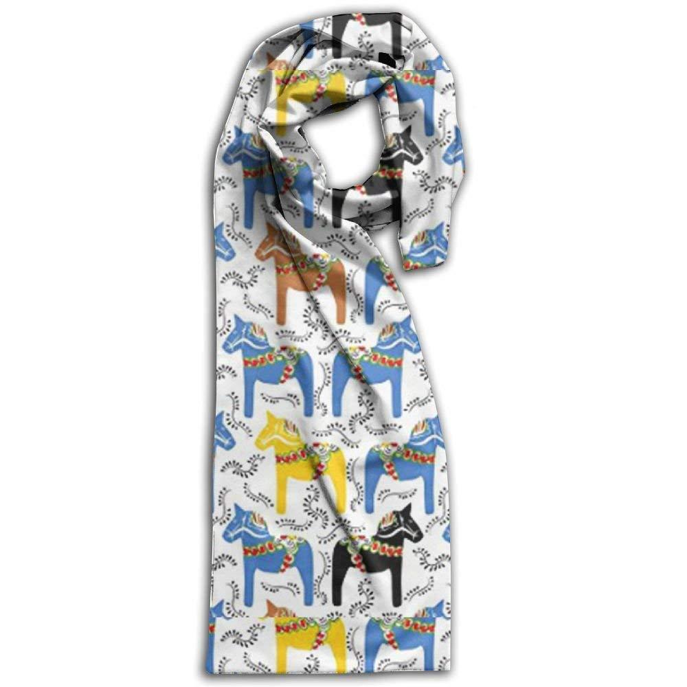 Womens Mens Fall Winter Fashion Scarf Long Shawl Cotton Scarves Print Scarves la Horses Winter Warm Soft Chunky Large Blanket Wrap Shawl Scarf