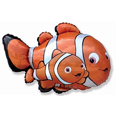 37 Inch Clown Fish Shaped Foil Balloon: Home & Kitchen