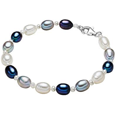 Button Süsswasser Zucht-Perlen-Armband Violett