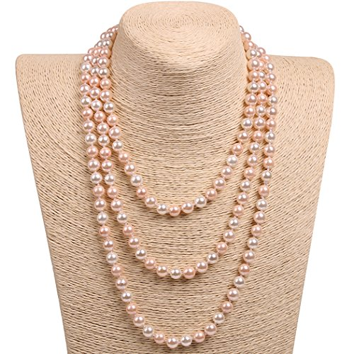 Green Giant Costume Uk (Wild Wind (TM) Valentine's Handmade Round Two-tone Pearl Strands Necklaces (Pure Pearls))