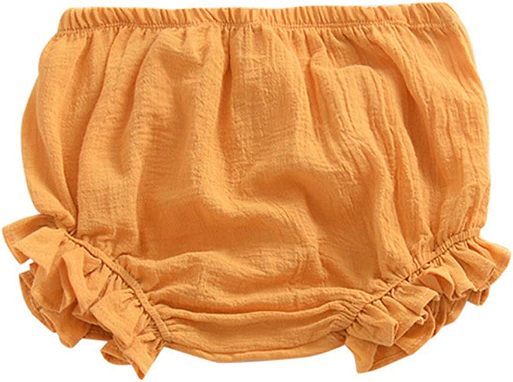 minansostey Summer Baby Girls Boys Bloomer Shorts Infant Solid Color Cotton Cute Loose Pants
