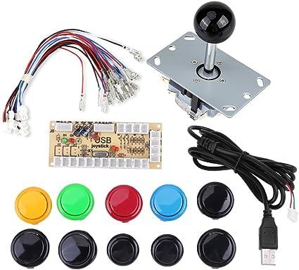 Zero Delay Arcade USB Encoder PC to Joystick Button DIY Kit For MAME Fight Stick