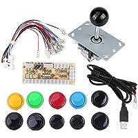 Arcade Game Knoppen Kits, 0 Delay Arcade Game DIY Kits Onderdelen 10 Knoppen + Joystick + USB Encoder voor MAME PC