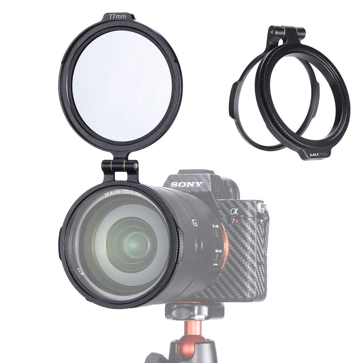 UURig 77MM Aluminum Rapid Camera Lens ND Filter Mount Bracket, 49/58/67/77/72/77/82mm RFS by UURig