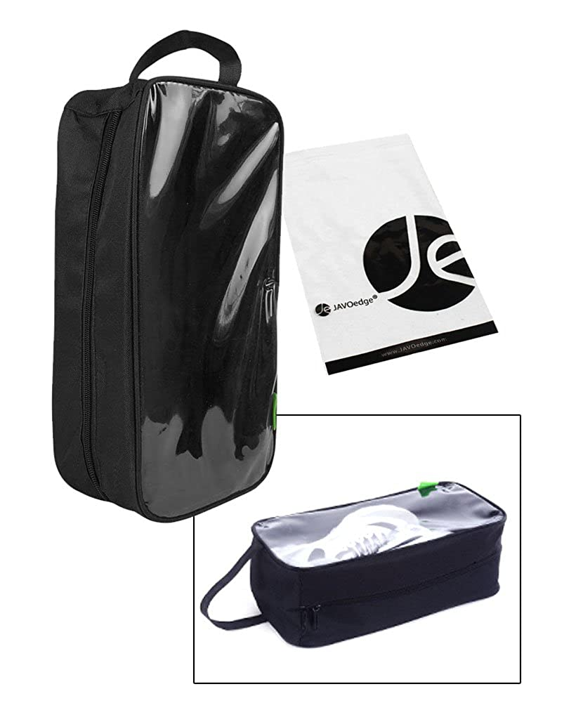 JAVOedge Clear Transparent Window Durable Nylon Zipper w//Carrying Handle Shoe Bag Luggage for Travel 13 x 6 x 4
