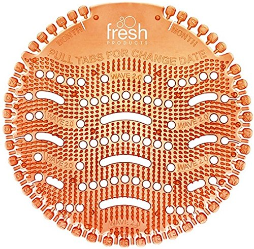 Wave Urinal Deodorizer Screen, Mango Scent, Orange, 10 per Box by FRESH PRODUCTS (Catalog Category: Office Maintenance, Janitorial & Lunchroom / Cleaning Supplies) ()