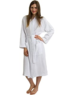 e9b59a7518 White Waffle Spa Robe Unisex Cotton Robe - New Low Price One Size ...