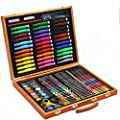 Painting & Drawing Set Children's Art Brush Stationery Set Gift 150 Pieces Wooden Box Watercolor Pen Set Watercolor Pens