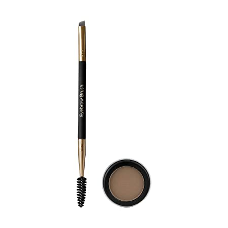 Billion Dollar Brows – 60 Seconds to Beautiful Brows Kit – Includes One Dual Ended Brow Brush, One Taupe Brow Powder, Versatile Color for Light to Dark Hair Colors, Cruelty free, Water resistant