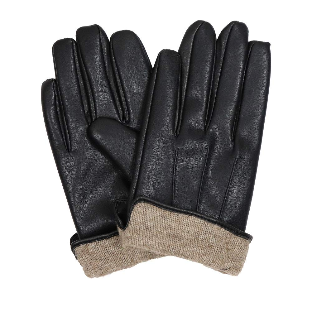 8036441ea868 Men s Cashmere Lined Leather Gloves winter Genuine Leather at Amazon Men s  Clothing store