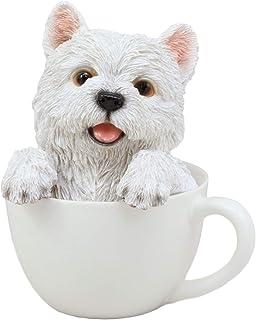 "Resin Realistic Mini Yorkie Cute Pet Pal Yorkshire Terrier Dog Figurine 6.25/""H"