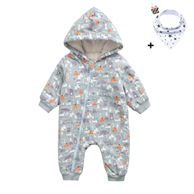 0936d9a78a Morbuy Unisex Baby Hooded Winter Romper