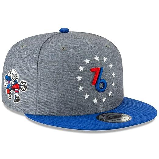 new arrivals a702d 1dd2e Amazon.com   New Era Philadelphia 76ers City Edition On-Court 9FIFTY  Snapback Adjustable Hat Cap   Clothing