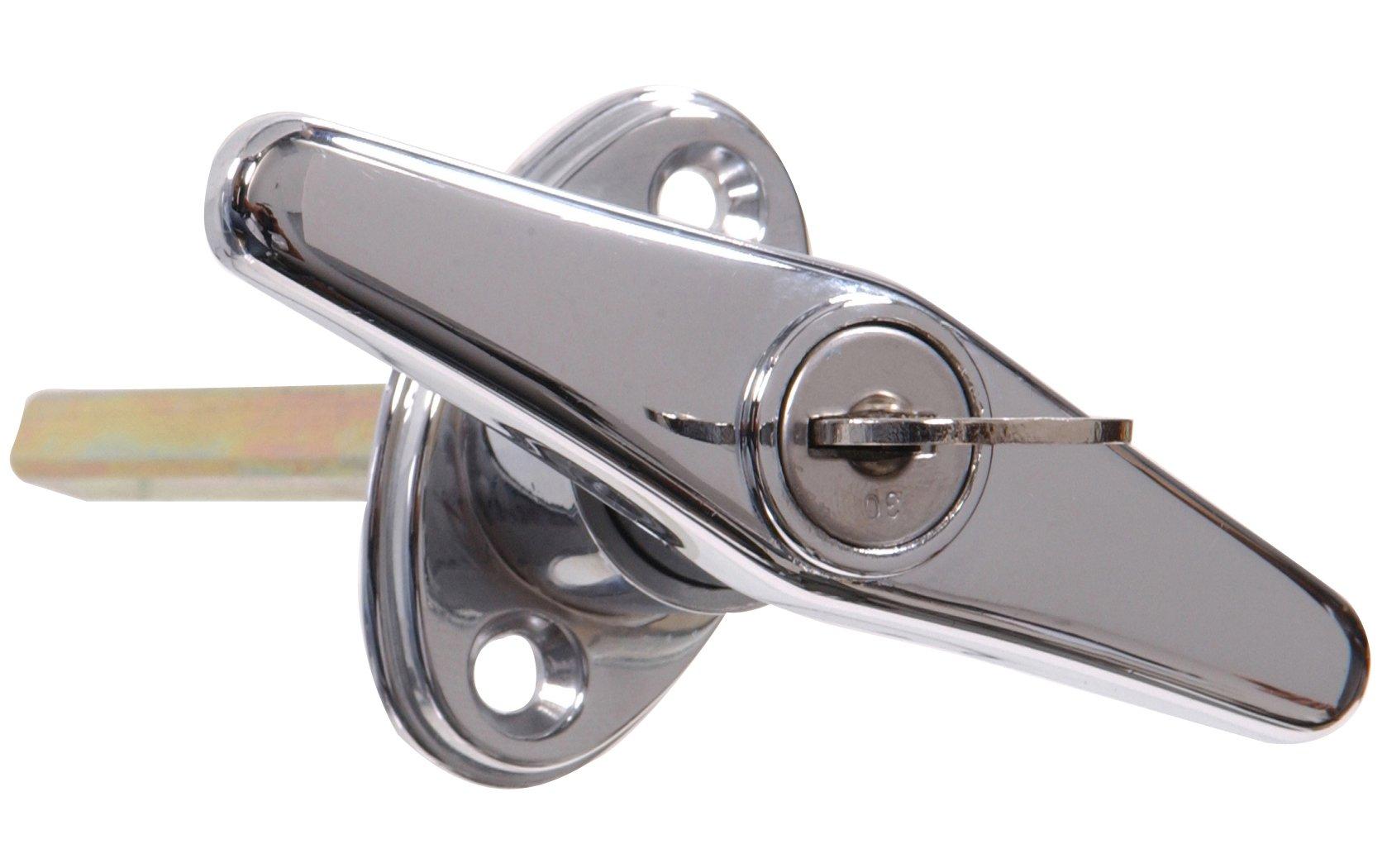 The Hillman Group 852135 Locking T Handle, Chrome Finish