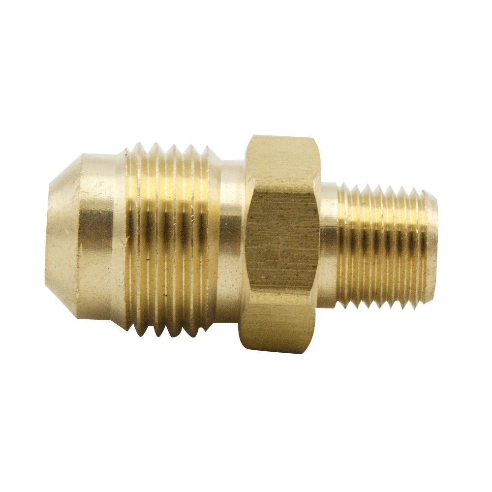 Pack of 2 5//16 Flare Male x 1//8 NPT Male Legines Brass SAE 45 Degree Flare Tube Fitting Male Adapter