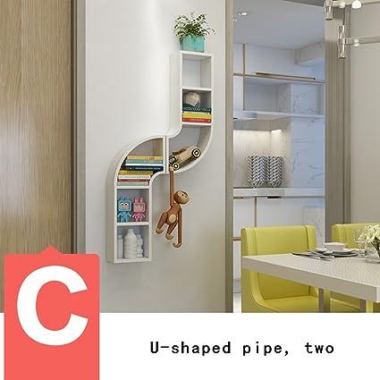 Scaffali pensili da muro soggiorno, studiare mensole creative parete ...