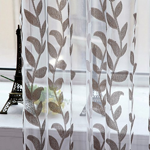 Sheer Room (Norbi Willow Voile Tulle Room Window Curtain Sheer Voile Panel Drapes Curtain 39.4'' x 78.8