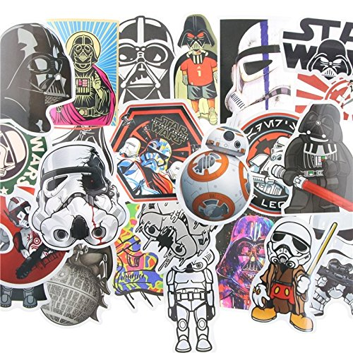 Stickers Scrapbooking Decal (Star Wars Stickers Vinyl Decal Assortment - 25 ct Variety Pack - Set 2 (DRC US Seller))