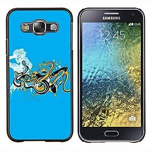 Stuss Case / Funda Carcasa protectora - Serpientes Reptiles señora Woman minimalista - Samsung Galaxy E5 E500