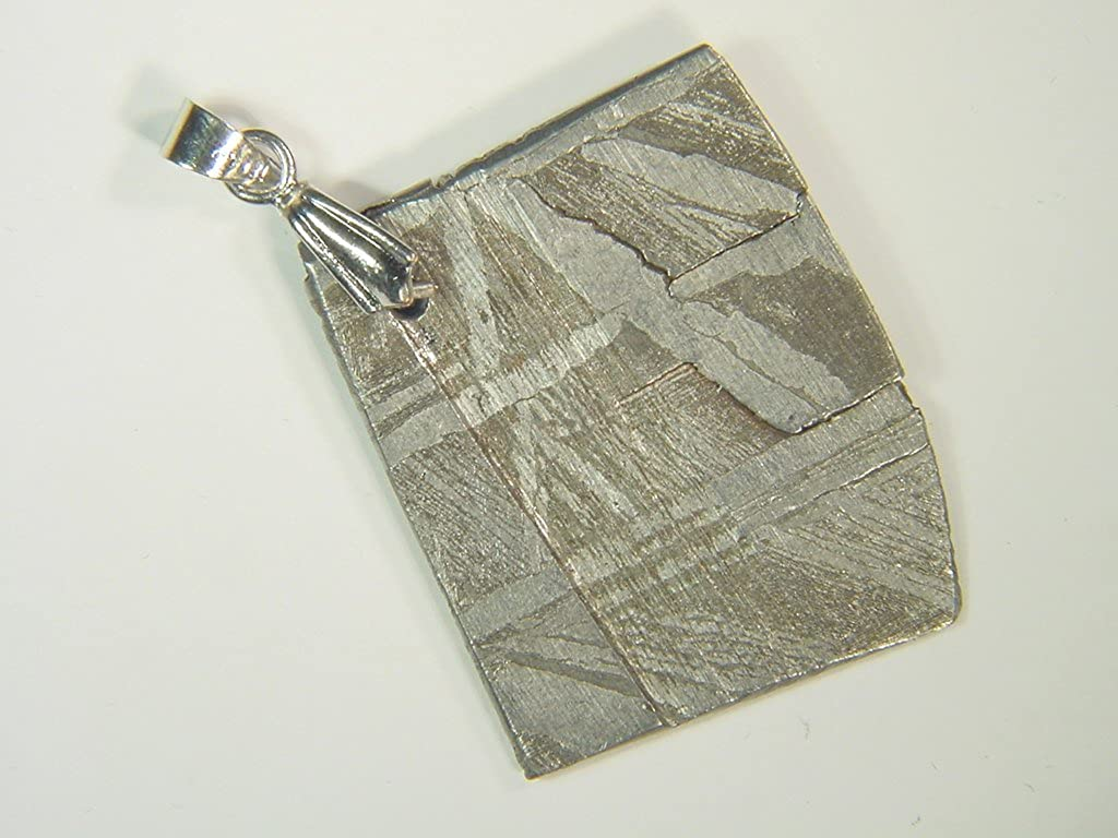 Russia Seymchan Meteorite Pendant Lapidary Necklace Jewelry