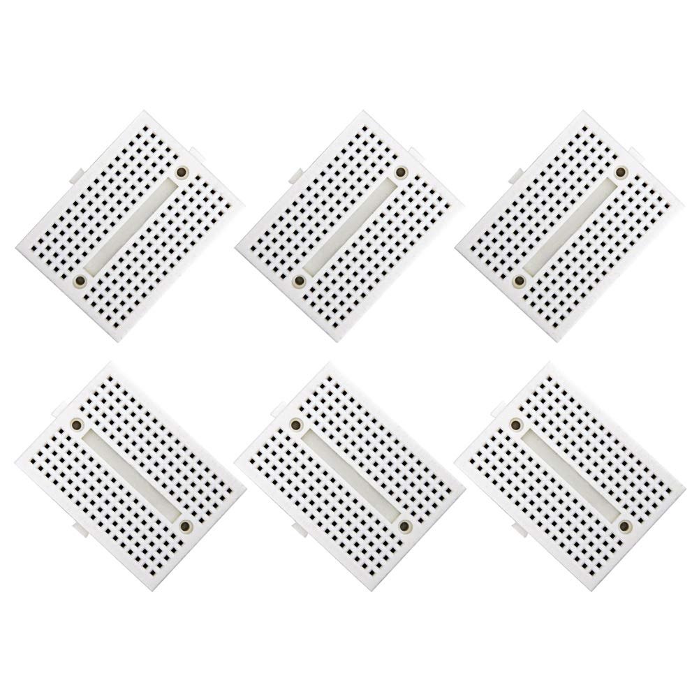 170 Tie Points Mini Breadboard Hong111 Solderless With 400 And Matching Pcb For Arduino Proto Shield Experiment Circuit Board Self Adhesive 6pcs