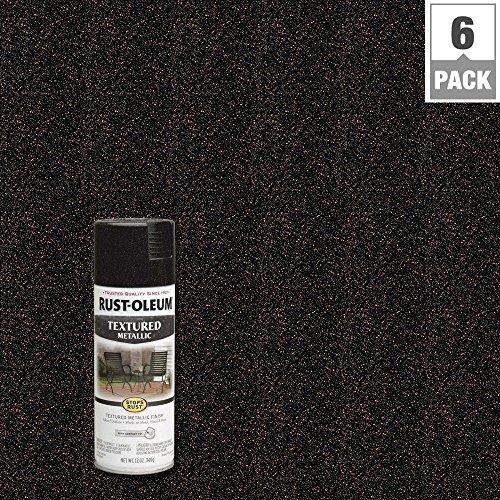 12 oz. Moonlight Copper Protective Enamel Metallic Textured Spray Paint (6-Pack) by Rust-Oleum