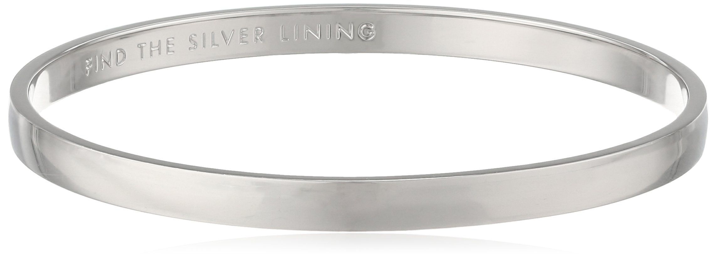 kate spade new york ''Idiom Bangles'' Find The Silver Lining Solid Bangle Bracelet by Kate Spade New York