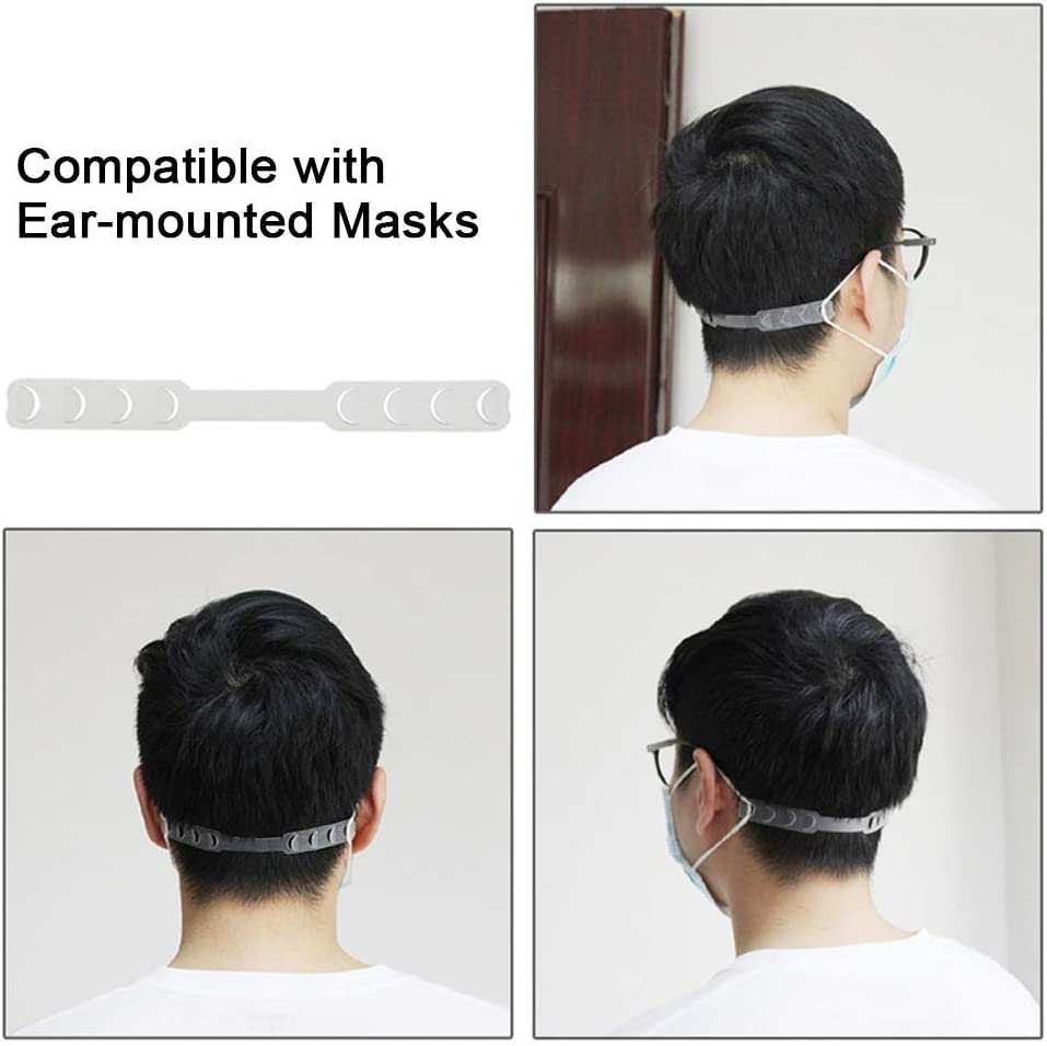 Ear Strap Accessories Anti-Tightening Ear Protector Decompression Holder Hook Ear Grips Extension Ear Pain Relieved SILUKER 10 Pack Strap Extender for Ear