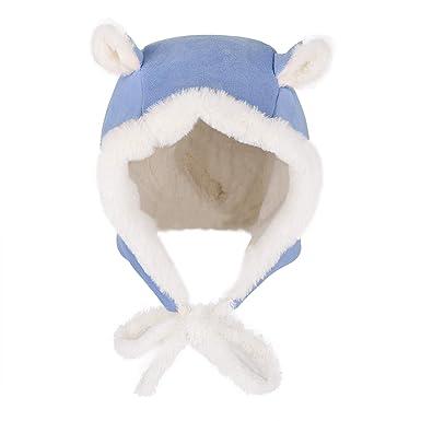 b97ac1b34e10b Bonnet Hiver Enfant Cagoule Fille Garçon Bonnet Chapka Fausse Fourrure Enfant  Bonnet Cache Oreilles Cagoule Chaud