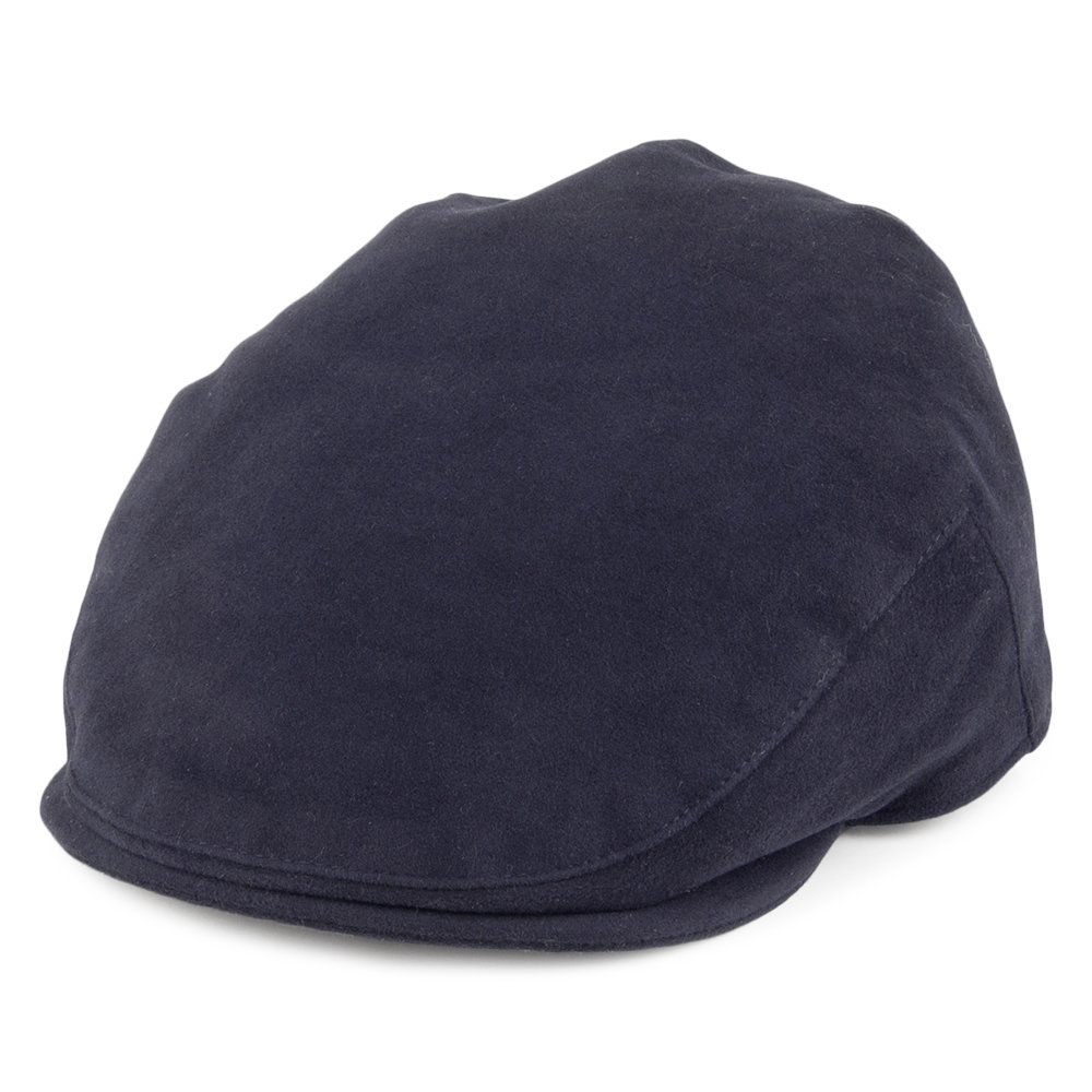 Christys Hats Moleskin Flat Cap - Navy