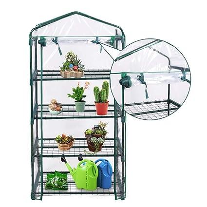 Mini Invernadero Portátil al aire libre 4 estantes Green House Garden - A estrenar - Cubierta