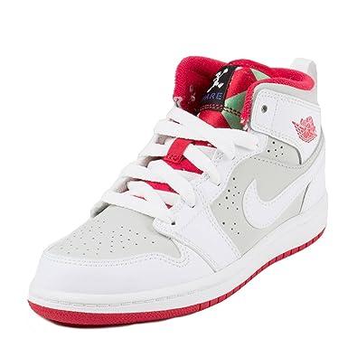 reputable site ba328 149dc NIKE Baby Boys Jordan 1 Mid WB BP Bugs White True Red-Light Silver