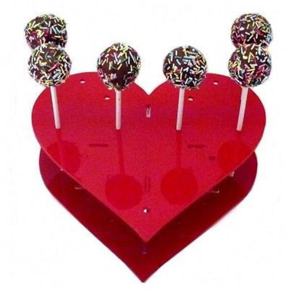 ハートケーキポップスタンドby Super Cool Creation 標準 レッド SCC-Heart-Cake-Pop-Stand-Red-STD 標準 レッド B07D5KSK9P