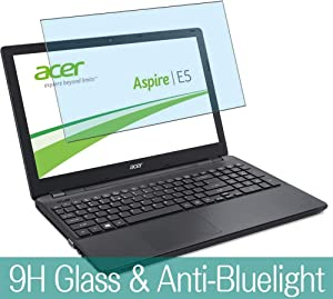 """Synvy Anti Blue Light Tempered Glass Screen Protector for Acer Aspire E5-572 / E5-572g 15.6"""" Visible Area 9H Protective Screen Film Protectors (Not Full Coverage)"""
