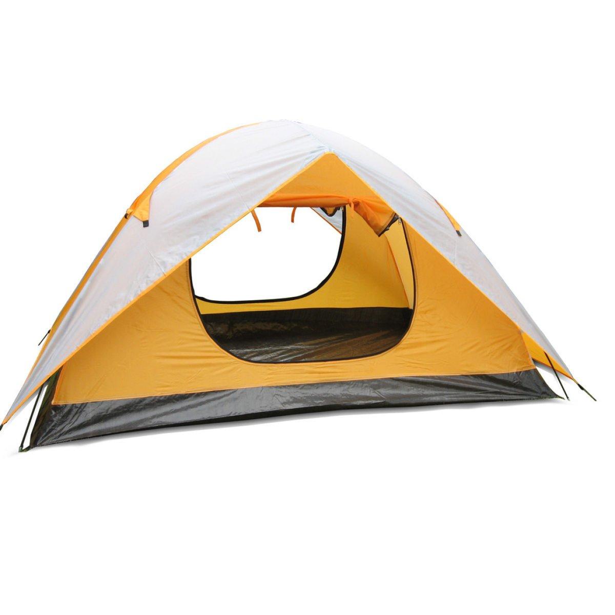 BFMEI Im Freien Camping Angeln Zelt Doppelzelt,200140110CM-Gelb
